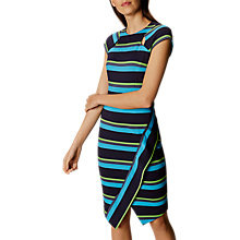 Buy Karen Millen Ponte Stripe Dress, Blue/Multi Online at johnlewis.com