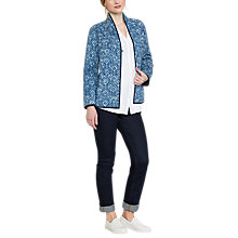 Buy East Neelam Print Quilted Jacket, Indigo Online at johnlewis.com