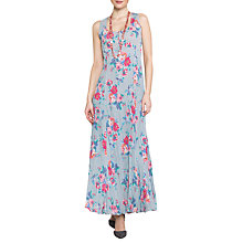 Buy East Valentina Print Pleat Dress, Dove Online at johnlewis.com