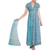 Buy East Anokhi Yasmin Print Maxi Dress, Capri Online at johnlewis.com
