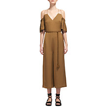 Buy Whistles Yasmin Strappy Jumpsuit, Olive Online at johnlewis.com