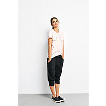 Buy hush Cropped Harem Trousers, Black Online at johnlewis.com