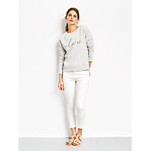 Buy hush Holly Cropped Jeans, White Online at johnlewis.com