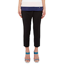 Buy Ted Baker Colour By Numbers Tekla Cross Front Semi Fitted Trousers, Black Online at johnlewis.com