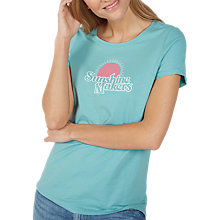 Buy Fat Face Sunshine Makers Short Sleeve T-Shirt, Teal Blue Online at johnlewis.com