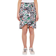 Buy Ted Baker Colour By Numbers Lexan Crossover Front Skirt, Grey Online at johnlewis.com