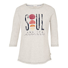 Buy Fat Face Soul and Sea 3/4 Length Sleeve T-Shirt, Light Grey Online at johnlewis.com