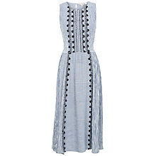 Buy Fat Face Connie Stripe Dress, Ivory Online at johnlewis.com