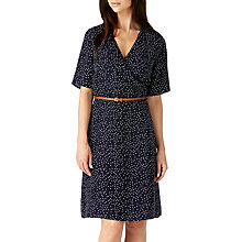 Buy Sugarhill Boutique Ronah Wrap Polka Dot Dress, Navy/Cream Online at johnlewis.com