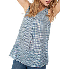 Buy Fat Face Juliet Gingham Cami Top, Ivory Online at johnlewis.com