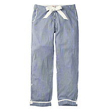 Buy Fat Face Stripe Print Classic Lounge Pants, Chambray Online at johnlewis.com