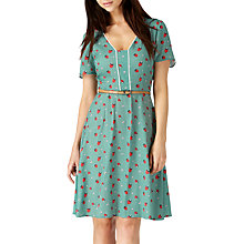 Buy Sugarhill Boutique Pippa Strawberry Print Dress, Green/Multi Online at johnlewis.com