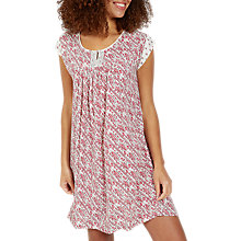 Buy Fat Face Una Patchwork Print Dress, Ivory/Red Online at johnlewis.com