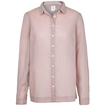 Buy Fat Face Rachel Relaxed Stripe Shirt, Blush Online at johnlewis.com