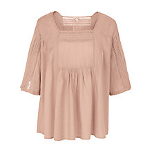 Buy Fat Face Fawn Lace Detail Blouse Online at johnlewis.com