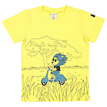 Buy Polarn O. Pyret Boys' Printed T-Shirt, Yellow Online at johnlewis.com