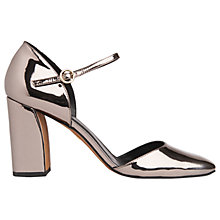 Buy Whistles Jackson Mary Jane Block Heeled Court Shoes, Pewter Online at johnlewis.com