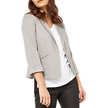 Buy Miss Selfridge Petite Ponte Notch Jacket, Mid Grey Online at johnlewis.com
