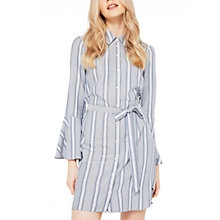 Buy Miss Selfridge Stripe Fluted Sleeve Dress, Multi Online at johnlewis.com