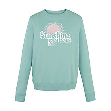 Buy Fat Face Sunshine Makers Sweatshirt, Teal Blue Online at johnlewis.com