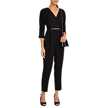 Buy Phase Eight Tyra Jumpsuit, Black Online at johnlewis.com