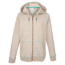 Buy Fat Face Nepped Full Zip Hoodie, Misty Surf Online at johnlewis.com