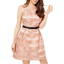 Buy Miss Selfridge Stripe Prom Dress, Pink Online at johnlewis.com
