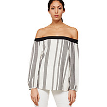 Buy Mint Velvet Striped Off The Shoulder Blouse, Multi Online at johnlewis.com