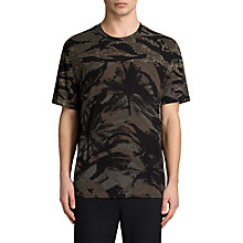 Buy AllSaints Palm Camo Short Sleeve Crew Neck T-Shirt, Black Online at johnlewis.com