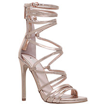 Buy Carvela Gilded Occasion Multi Strap Stiletto Sandals, Bronze Online at johnlewis.com