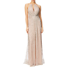 Buy Adrianna Papell Halterneck Fully Beaded Gown Online at johnlewis.com