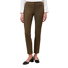 Buy Hobbs Annie Trousers, Khaki Online at johnlewis.com