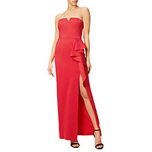 Buy Adrianna Papell Jersey Front Cascade Gown, Cassis Online at johnlewis.com
