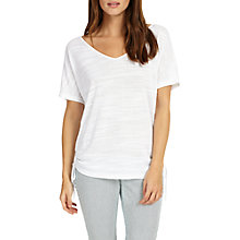 Buy Phase Eight Sadie Slub Drawstring Top, White Online at johnlewis.com