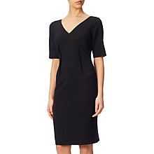 Buy Adrianna Papell Stretch Crepe Darted Shift Dress, Black Online at johnlewis.com