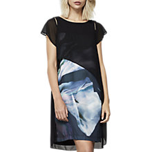 Buy Mint Velvet Martha Print Layered Dress, Black/Multi Online at johnlewis.com