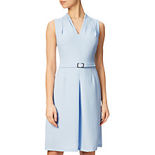 Buy Adrianna Papell Textured Dress With Draped Neckline, Cloud Blue Online at johnlewis.com
