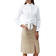 Buy Hobbs Ella Shirt, White Online at johnlewis.com