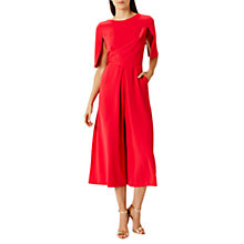 Buy Coast Savanna Cape Sleeve Jumpsuit, Raspberry Online at johnlewis.com