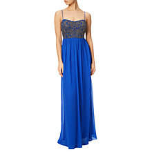 Buy Adrianna Papell Beaded Bodice Sleeveless Gown, Royal Blue Online at johnlewis.com