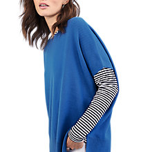 Buy Pure Collection Relaxed Cashmere Top, True Blue Online at johnlewis.com