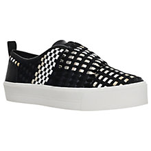 Buy Carvela Leave Slip On Flatform Trainers, Black Online at johnlewis.com