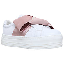 Buy Kurt Geiger Laurel Slip On Flatform Trainers, White Online at johnlewis.com