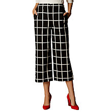 Buy Karen Millen Window Pane Wide Legged Culottes, Black/White Online at johnlewis.com