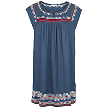 Buy Fat Face Una Embroidered Dress, Vintage Blue Online at johnlewis.com