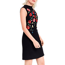 Buy Oasis Poppy Embellished Shift Dress, Multi Online at johnlewis.com
