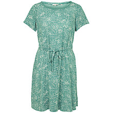 Buy Fat Face Hatty Intricate Floral Dress, Ocean Surf Online at johnlewis.com