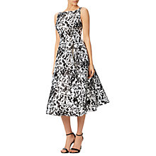 Buy Adrianna Papell Sleeveless Printed Mikado Party Dress, Black Online at johnlewis.com