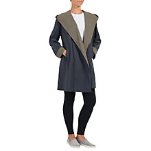 Buy Four Seasons Hooded Two-Toned Wrap Coat, Steep/Taupe Online at johnlewis.com