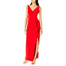 Buy Coast Witney Jersey Frill Maxi Dress, Red Online at johnlewis.com